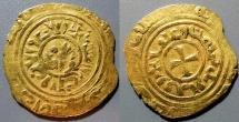 World Coins - Crusader gold - Kingdom of Jerusalem bezant, 1251-1258 AD - scarce!!