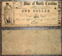 Us Coins - US Civil War currency, State of North Carolina, 1861, One Dollar