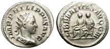 Ancient Coins - PHILIP II. AD 247-249. AR ANTONINIANUS. NICE AND VERY ATTRACTIVE.