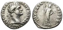 Ancient Coins - DOMITIAN. AD 92. SILVER DENARIUS. ROME.
