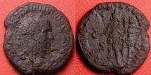 Ancient Coins - TRAJAN DECIUS AE as. GENIO EXERC ILLYRICIANI, Genius standing, standard behind.