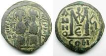 Ancient Coins - Justin II, AE Follis: Constantinople
