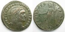 Ancient Coins - Galerius: AE Folles, Herculea mint, Genius reverse
