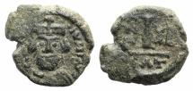 Ancient Coins - Heraclius (610-641). A 10 Nummi. Catania, 622/3.