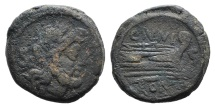Ancient Coins - Rome Republic C. Junius C.f., Rome, 149 BC. AE Semis