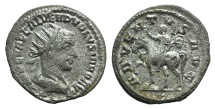 Ancient Coins - Volusian (251-253). AR Antoninianus. Antioch. VERY RARE