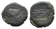 Ancient Coins - Rome Republic C. Maianius, Rome, 153 BC. AE Triens
