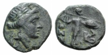 Ancient Coins - Thessaly, Thessalian League, c. 100-50 BC. AE Chalkous