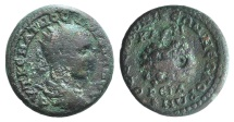 Ancient Coins - Gordian III (238-244). Macedonia, Thessalonica. AE 24mm. R/ Agonistic urn inscribed containing palm