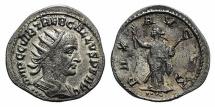 Ancient Coins - Trebonianus Gallus (251-253). AR Antoninianus. Antioch, 253. R/ Pax
