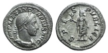 Ancient Coins - Severus Alexander (222-235). AR Denarius. Rome, 231-5. R/ Spes