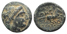 Ancient Coins - Kings of Macedon. Alexander III 'the Great' (336-323 BC). AE Unit. Miletos, c. 323-319.