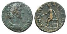 Ancient Coins - Marcus Aurelius (Caesar, 139-161). Macedon, Amphipolis. AE 25mm. R/ Amphipolis seated RARE