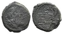 Ancient Coins - Rome Republic Atilius Saranus, Rome, 155 BC. AE Semis