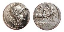 Ancient Coins - Matienus AR denarius. 189-179 BC. ROMA. MAT.