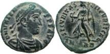 Ancient Coins - Valens Æ 3mm., 367-375 AD. Rome SM sheet RB.