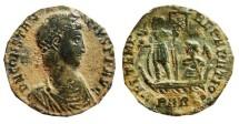 Ancient Coins - Constantius II AE3. 347-355 AD. Arles PARL·