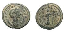 Ancient Coins - Severina Æ antoninianus, Rome mint. 270-275 AD. CONCORDIA MILITVM // XXIR