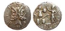 Ancient Coins - M. Fourius M.f. Philus AR denarius. 119 B.C. PHILI - ROMA
