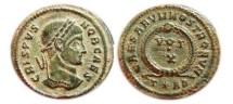 Ancient Coins - Crispus as Caesar AE Follis. 317-326 AD. Arles mint.  T*AR